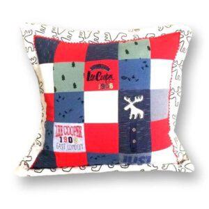 poduszka patchwork z ubran