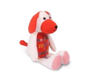 Pluszak pies z ubranek dzieciecych