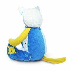kotek pluszak z ubranek dzieciecych